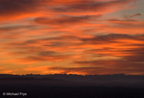 Sunrise over the Sierra crest
