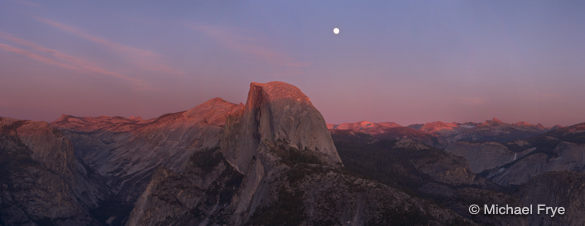 Moonrise from Glacier Point Saturday evening