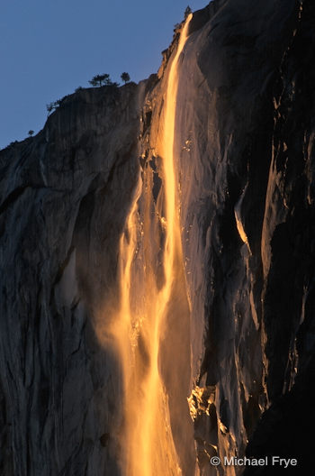 Horsetail Fall at sunset, February 1995
