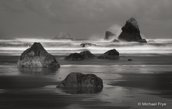 Rocks and sea stacks near Trinidad (six seconds at f/22, ISO 50)