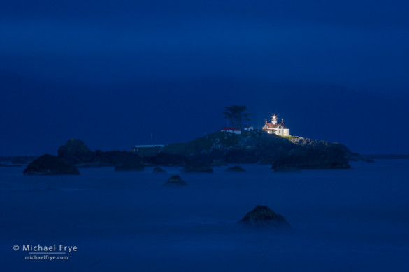 Battery Point Lighthouse at dusk, Crescent City, CA