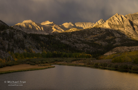 First light on peaks above North Lake, Bishop Creek Canyon, Inyo NF, CA, USA