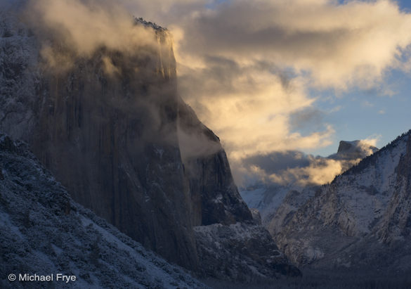 Half Dome and El Capitan, sunrise