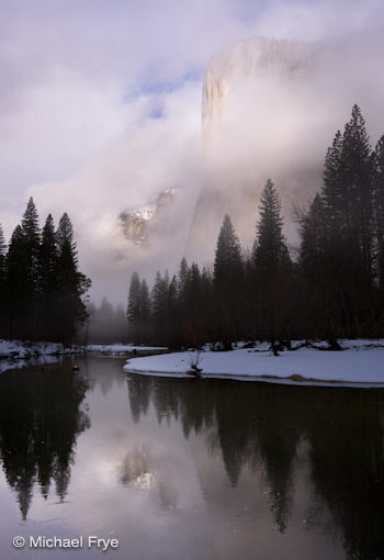 El Capitan and the Merced River, 8:23 this morning