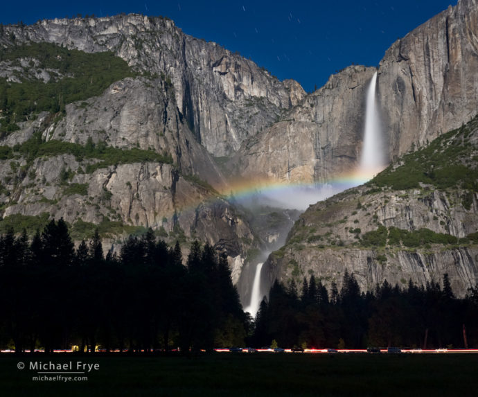 Lunar rainbow from Cook's Meadow, Yosemite NP, CA, USA