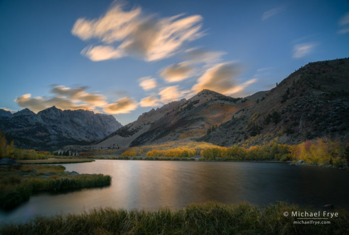 Sunset clouds over North Lake, autumn, Inyo NF, CA, USA