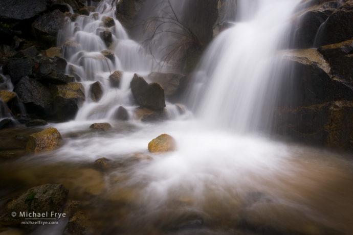 A small waterfall in Yosemite NP, CA, USA