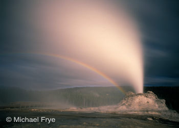 Lunar Rainbow, Castle Geyser, Yellowstone National Park, June 1996