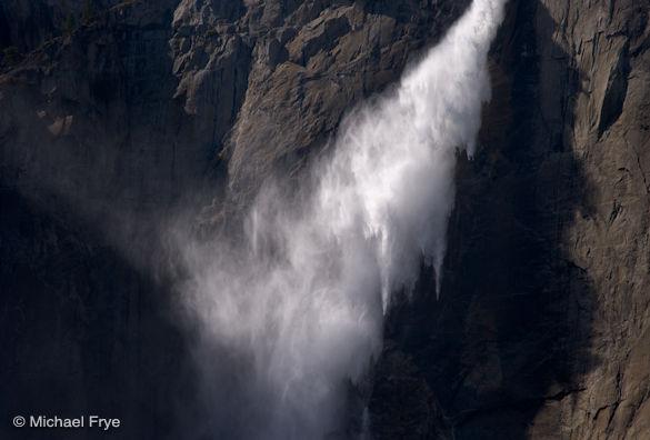 Wind-blown Upper Yosemite Fall