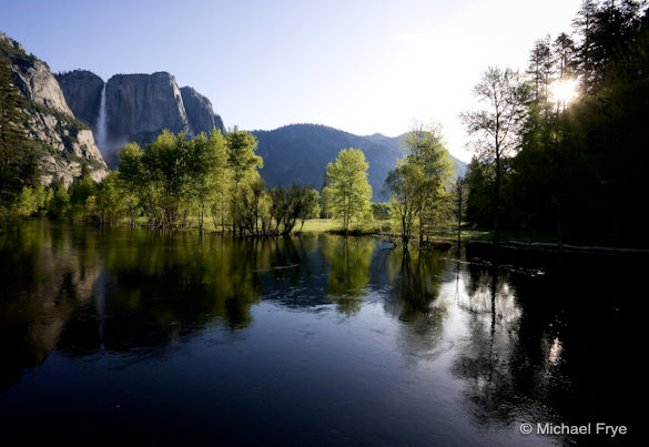 Spring Morning, Upper Yosemite Fall and the Merced River