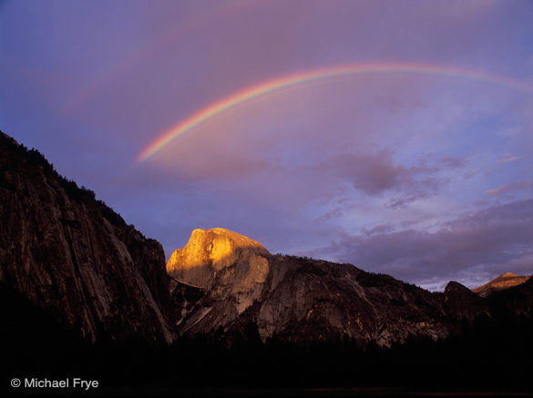 Rainbow over Half Dome