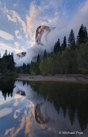 El Capitan at sunset, Tuesday evening