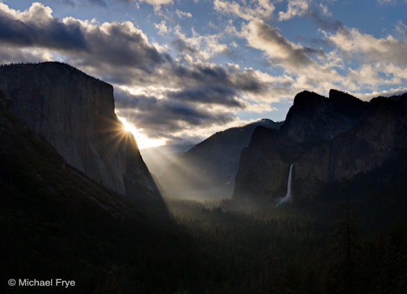 Sunbeams from Tunnel View, Saturday morning
