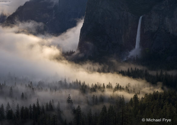 Fog, sunlight, and Bridalveil Fall, 6/6