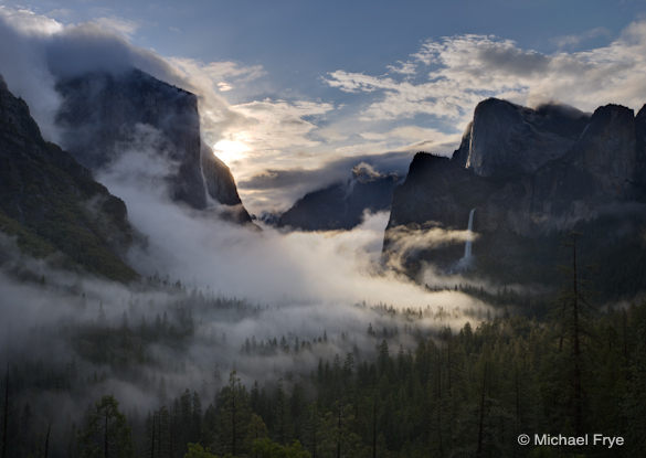 Misty sunrise from Tunnel View, 6/6