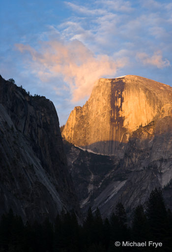 Half Dome at sunset, 6/11