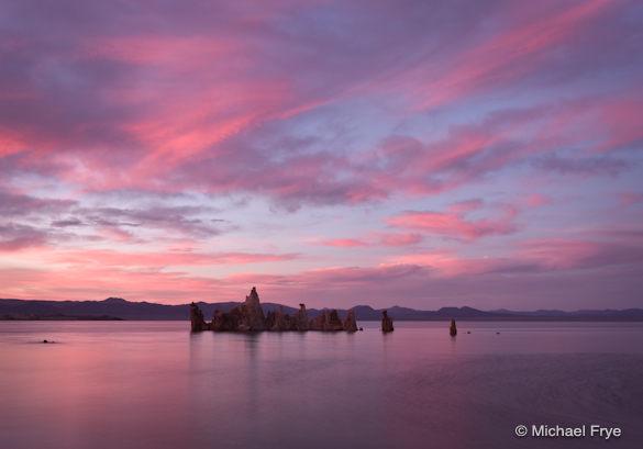Sunset at Mono Lake, Friday evening