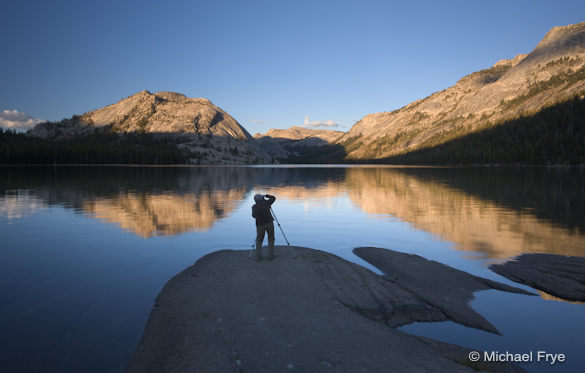 Workshop participant at Tenaya Lake