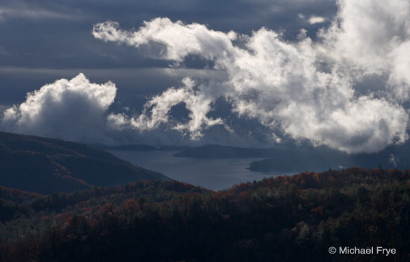 Clearing storm over Lake Jocassee