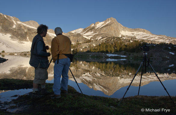 Workshop students at Greenstone Lake during the first Hidden Yosemite workshop in 2005