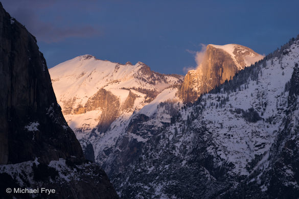 7. Half Dome at sunset from Tunnel View
