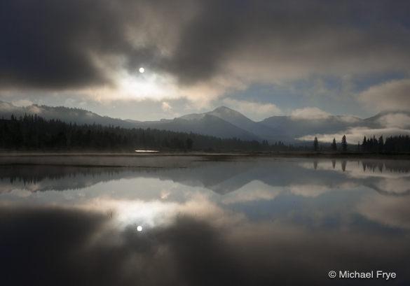 22. Sun Breaking through mist, Tuolumne Meadows,