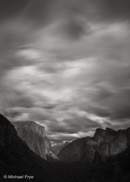 26. Fast-moving clouds, Yosemite Valley