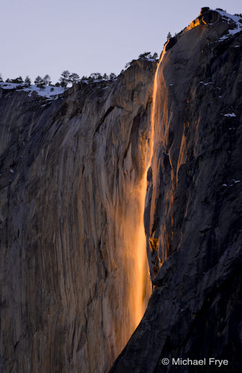 Horsetail Fall, February 19th, 2009 (the one good evening that year)