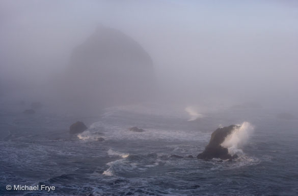 Waves and sea stacks near Trinidad