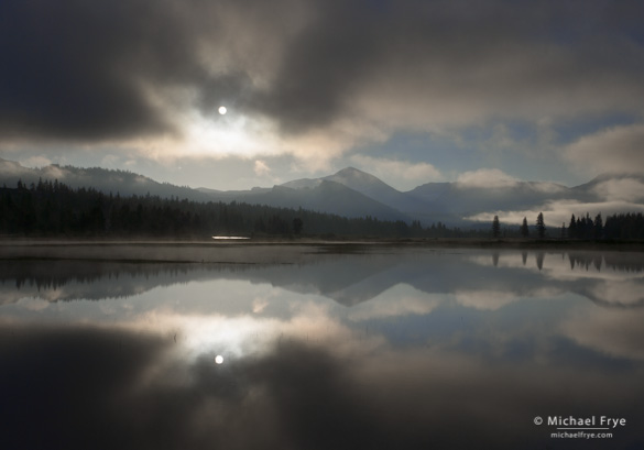 Sun breaking through Mist, Tuolumne Meadows—the opening image for Chapter 4 of the book