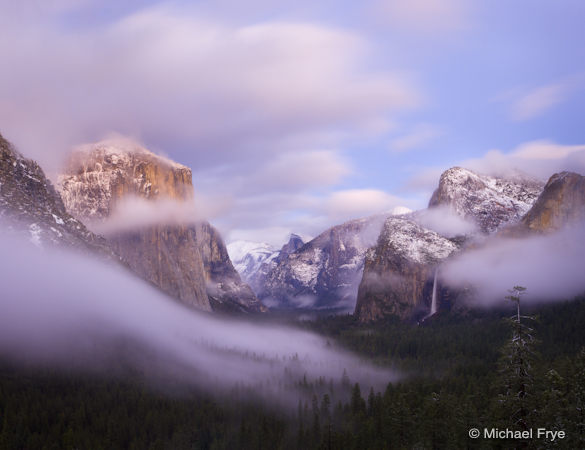 Clearing storm, dusk, Tunnel View, Yosemite NP, CA, USA