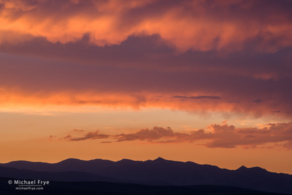 Mike Osborne and I caught a colorful sunset from Conway Summit before the workshop.