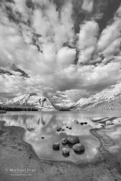 Cloud formations over Tenaya Lake, Yosemite NP, CA, USA