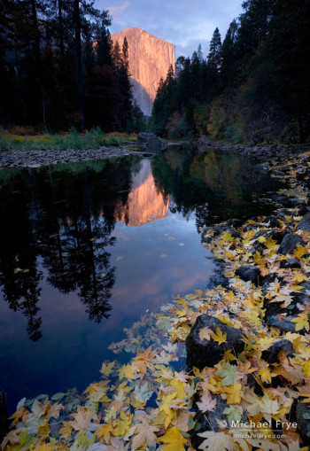 Creating Depth: El Capitan and the Merced River, autumn, Yosemite NP, CA, USA
