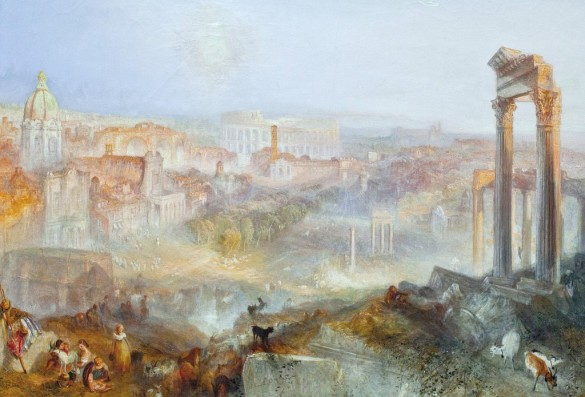 Creating Depth in Art: Modern Rome — Campo Vaccino, by JMW Turner