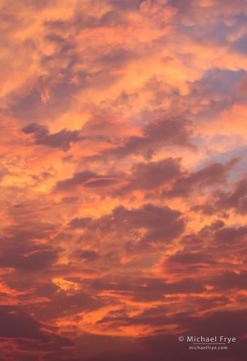 Sunset clouds, Yosemite NP, CA, USA