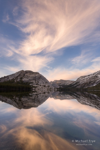 Sunset clouds, Tenaya Lake, Yosemite NP, CA, USA