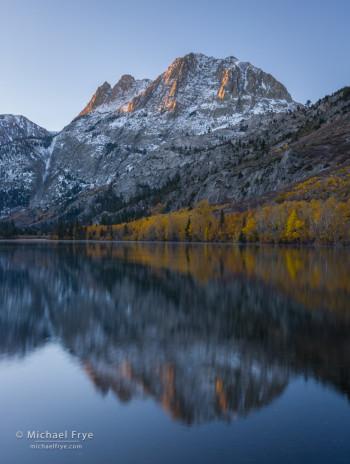 Sunrise on a peak in the eastern Sierra, Inyo NF, CA, USA