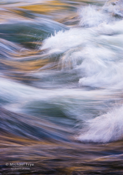 Waves in the Merced River, Yosemite NP, CA, USA