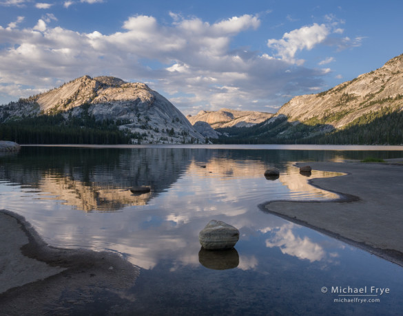 Clouds and reflections, Tenaya Lake, Yosemite NP, CA, USA