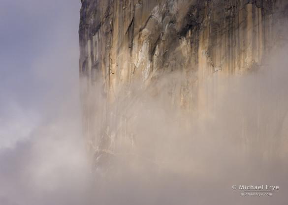 Midsection of El Capitan, Yosemite NP, CA, USA