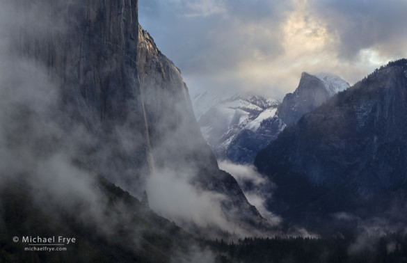 Clearing storm at sunrise, Tunnel View, Yosemite NP, CA, USA