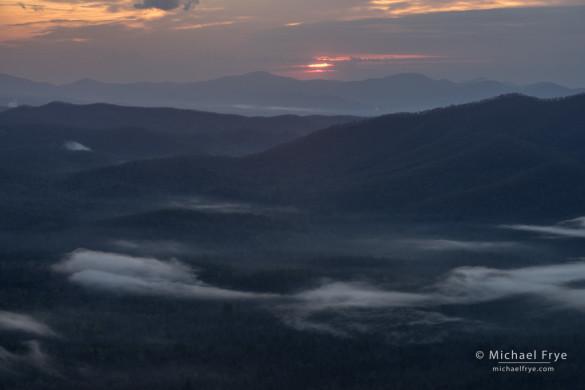Sunrise from Pounding Mill Overlook, Blue Ridge Parkway, NC, USA