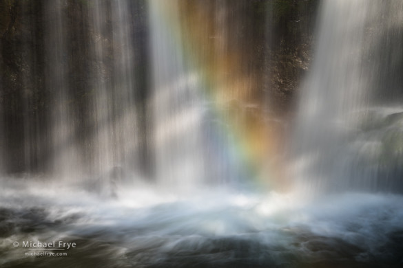 Rainbow and sunbeams, Brasstown Veil, SC, USA
