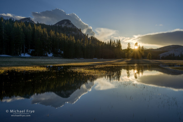 Setting sun, Tuolumne Meadows, Yosemite NP, CA, USA