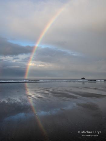 Rainbow, Crescent Beach, Crescent City, CA, USA