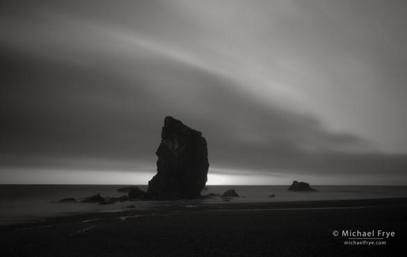 Sea stacks at dusk, Redwood NP, CA, USA