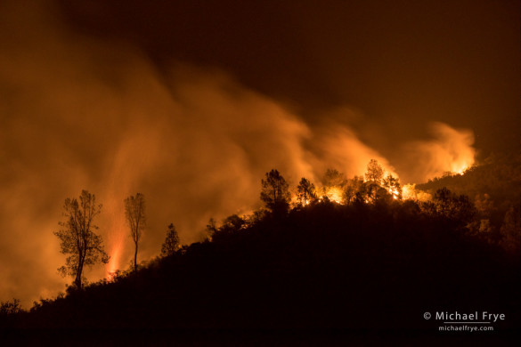 El Portal Fire, just east of El Portal in Stanislaus NF, CA, USA; 3:12 a.m., 7/27/14