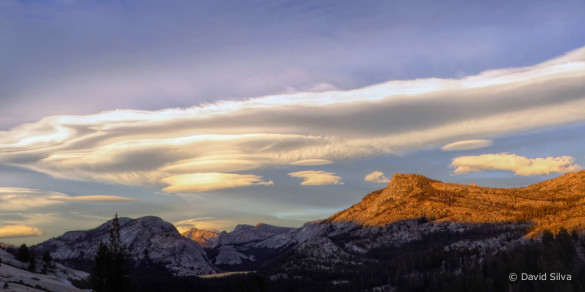 Lenticular Clouds, Tioga Pass, Yosemite, by David Silva