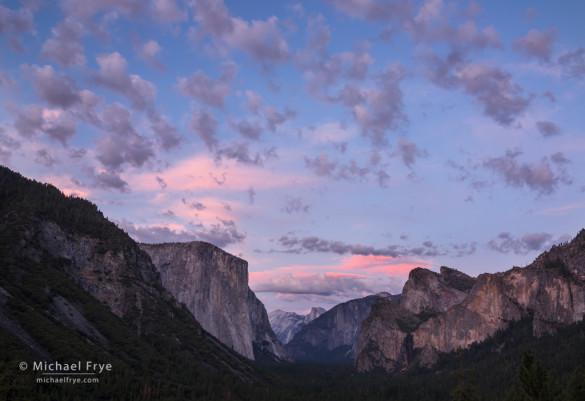Sunset, Tunnel View, Yosemite NP, CA, USA